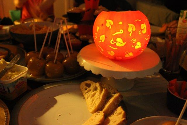 Leaf Design Pumpkin