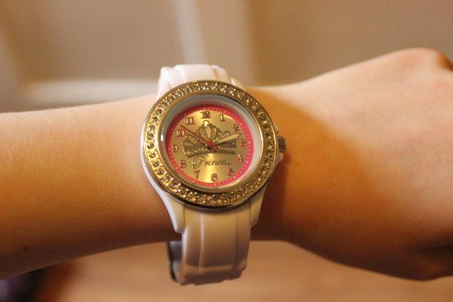 Tikkers white stone set tiara watch
