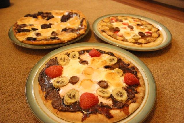 sweet dessert pizza recipe