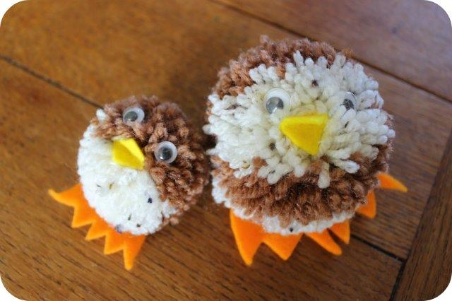 how to make pompom animals