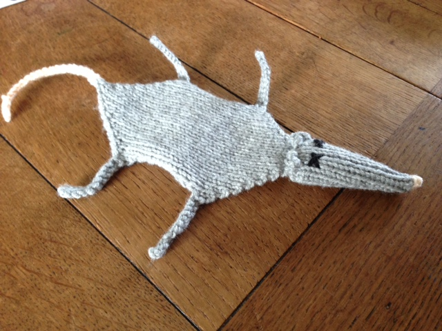 Squashed Rat Bookmark Knitting Pattern
